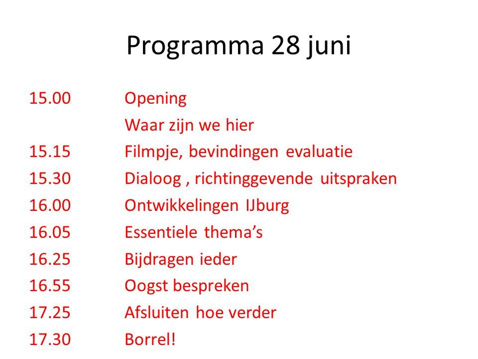 Programma 28 juni