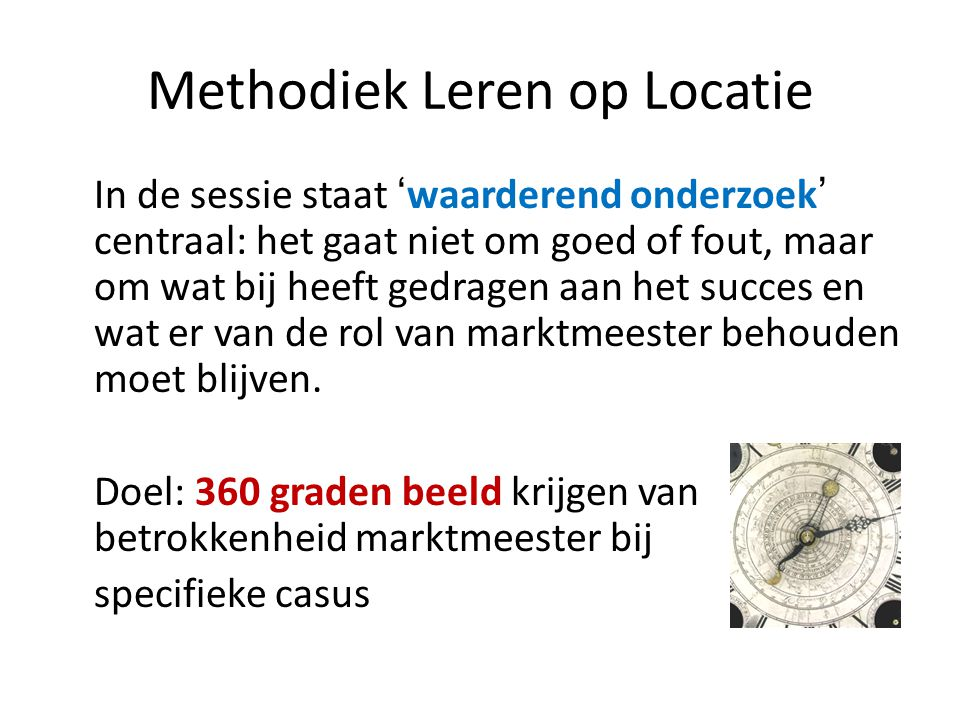 Methodiek Leren op Locatie