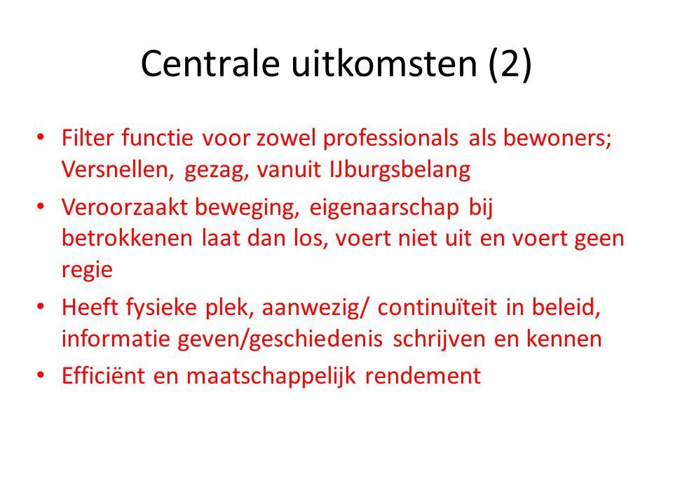 Centrale uitkomsten (2)