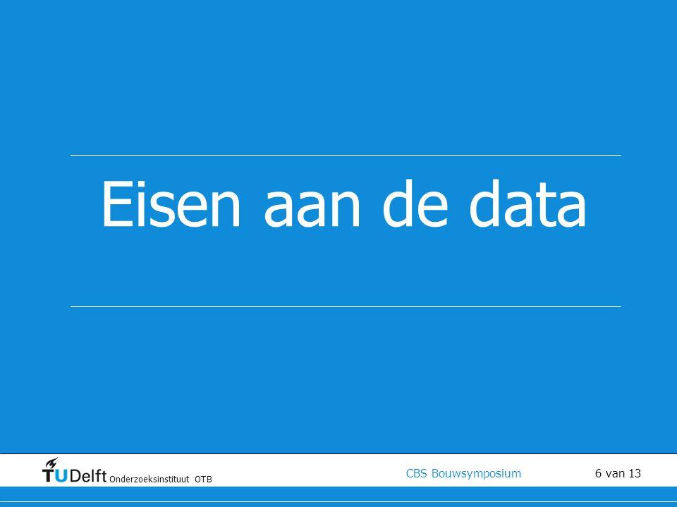 Eisen aan de data