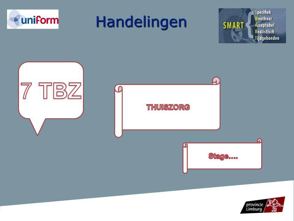 Handelingen 7 TBZ THUISZORG Stage….