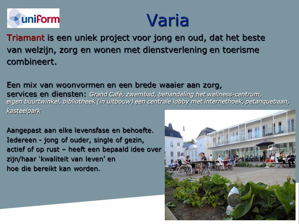 Varia Triamant is een uniek project voor jong en oud, dat het beste