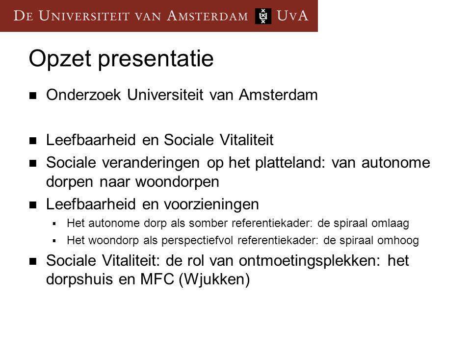 Opzet presentatie Onderzoek Universiteit van Amsterdam