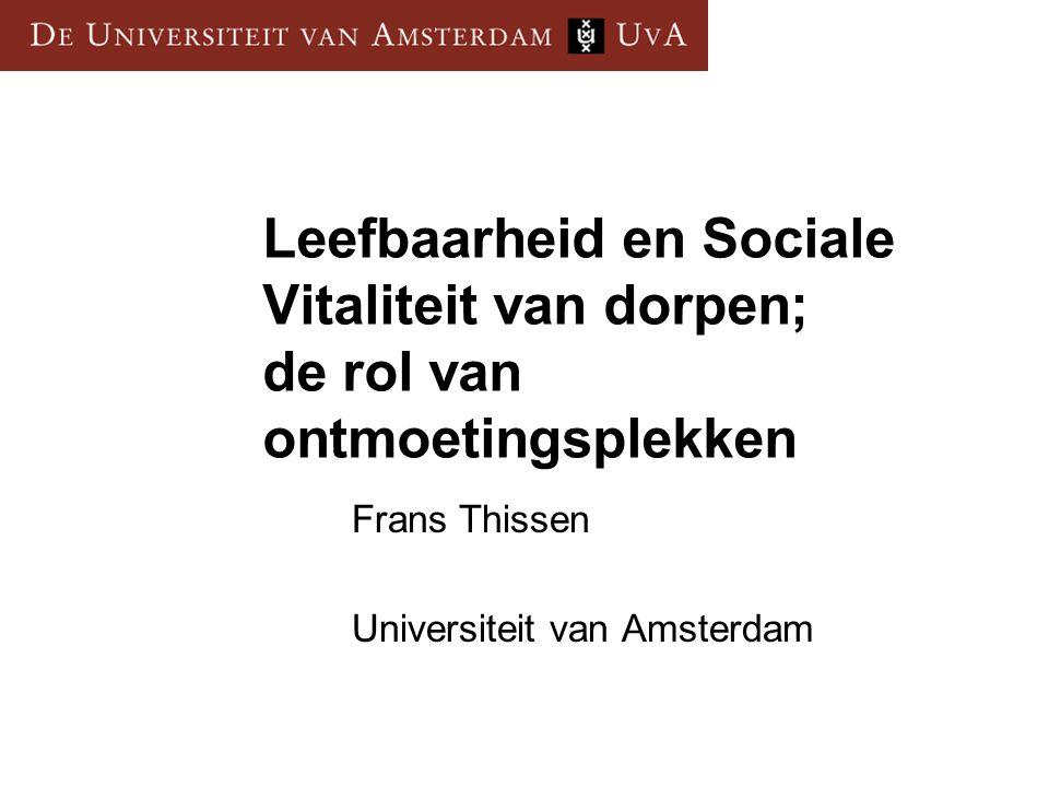 Frans Thissen Universiteit van Amsterdam