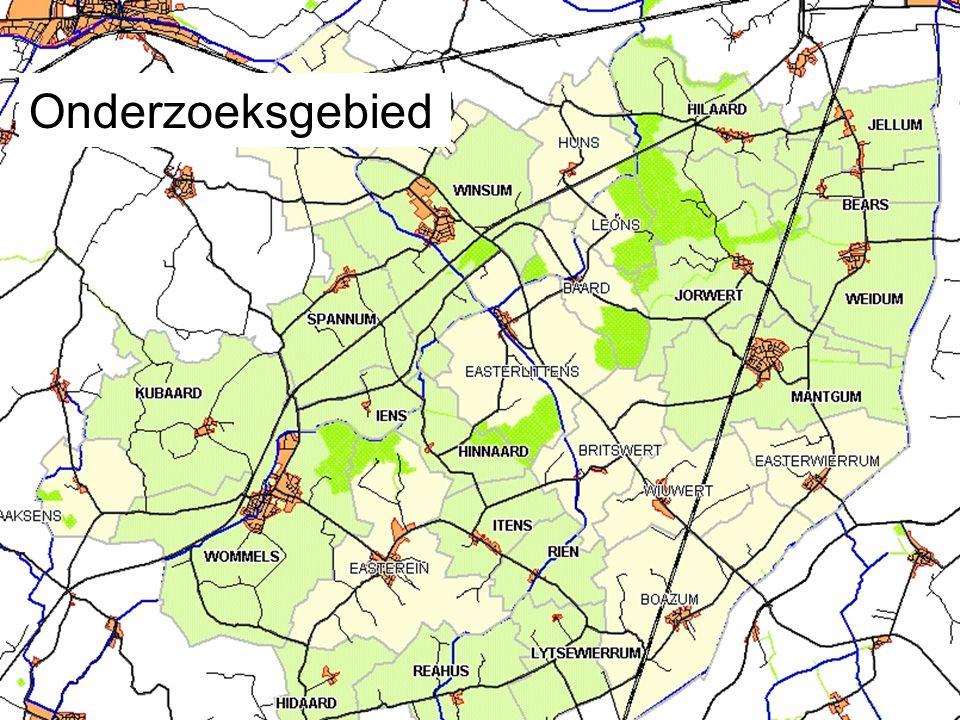 Onderzoeksgebied: 17 dorpen
