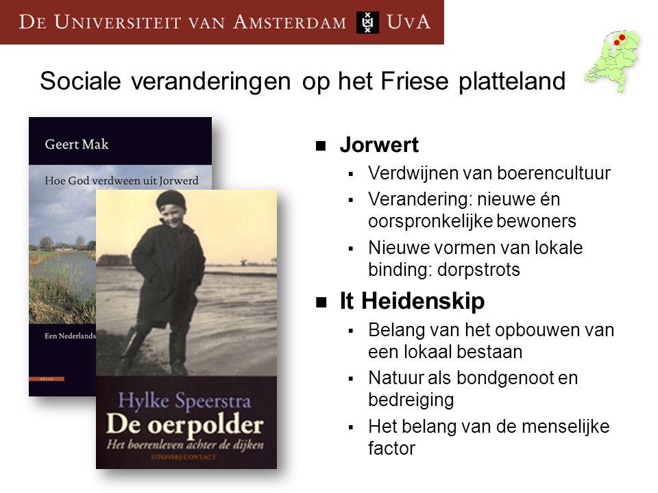 Sociale veranderingen op het Friese platteland