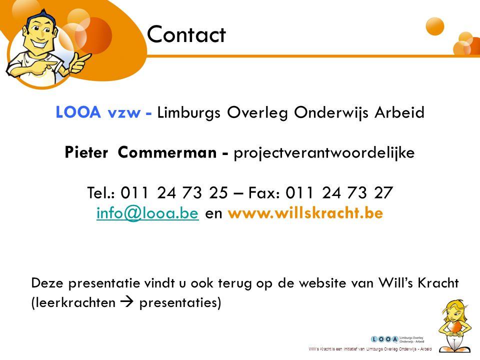 Contact LOOA vzw - Limburgs Overleg Onderwijs Arbeid
