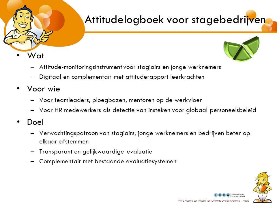 Attitudelogboek voor stagebedrijven