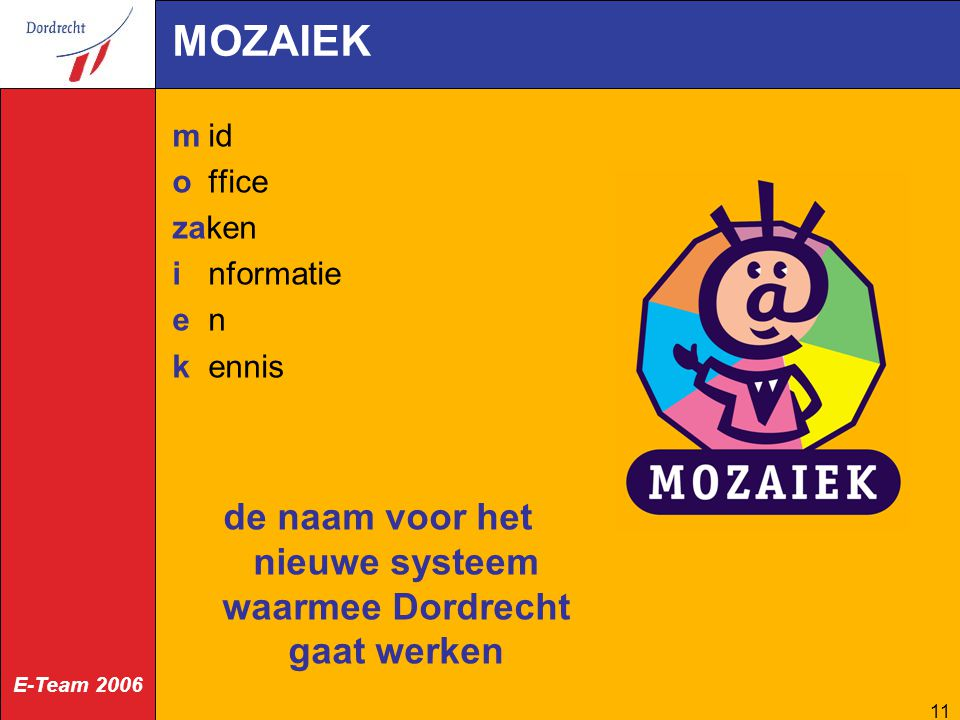 de naam voor het nieuwe systeem waarmee Dordrecht gaat werken