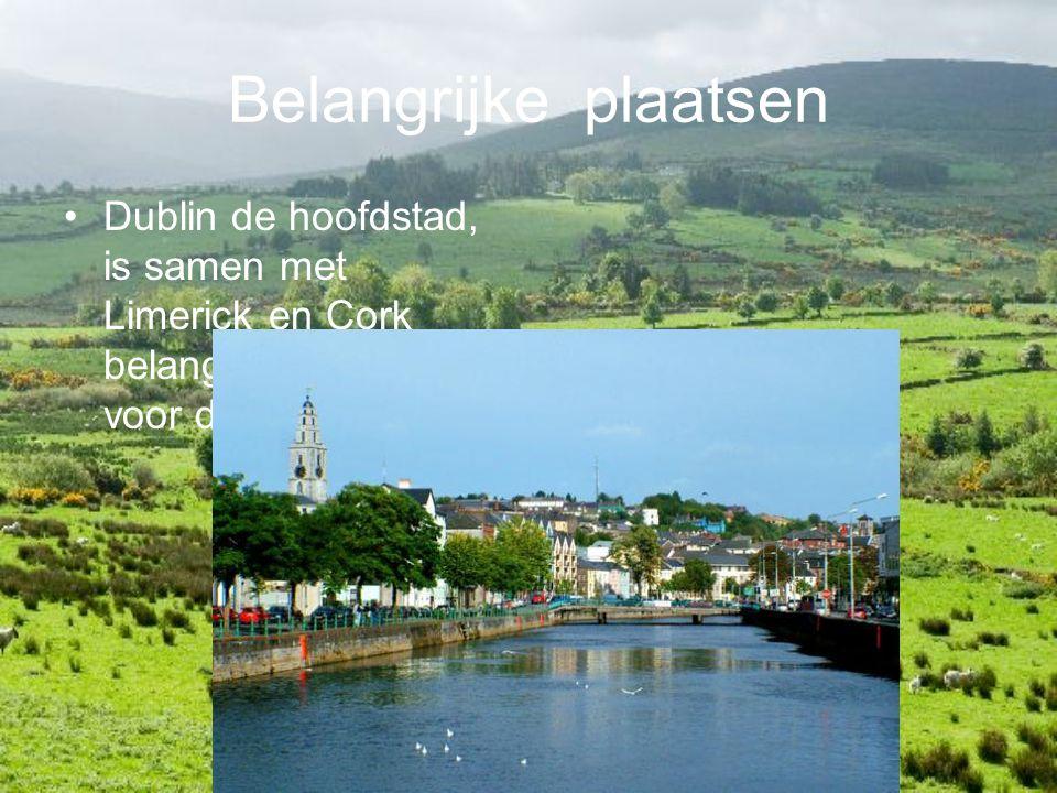 Belangrijke plaatsen Dublin de hoofdstad, is samen met Limerick en Cork belangrijkste stad voor de Ieren.