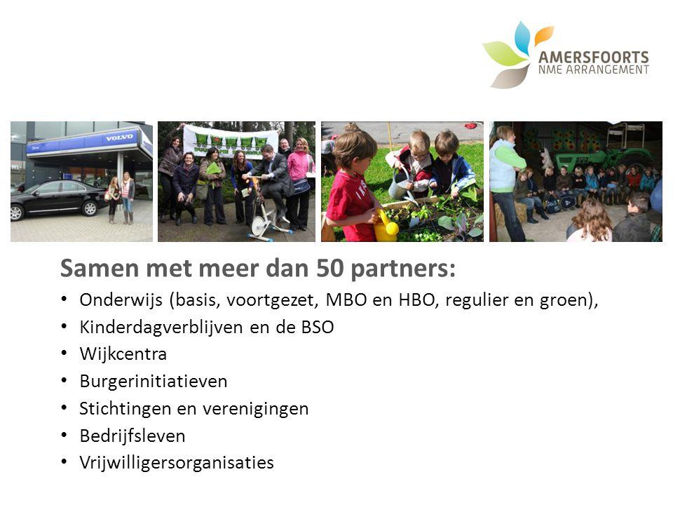 Samen met meer dan 50 partners: