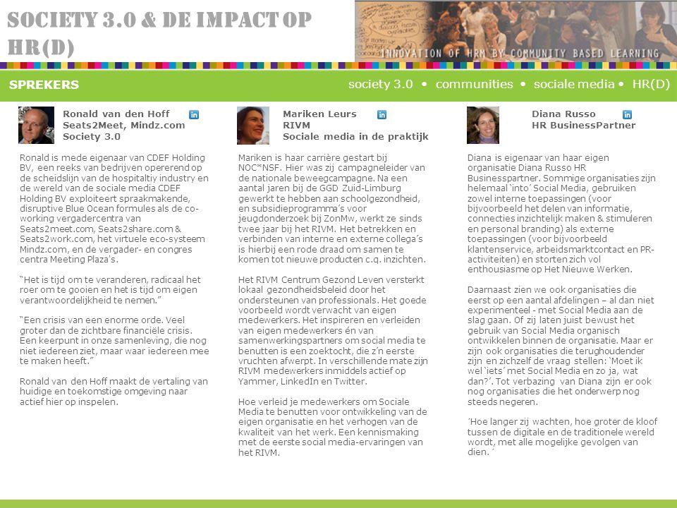 SPREKERS Ronald van den Hoff Seats2Meet, Mindz.com Society 3.0