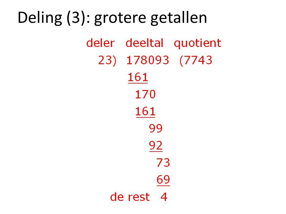 Deling (3): grotere getallen