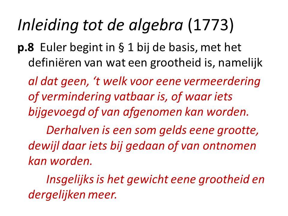 Inleiding tot de algebra (1773)