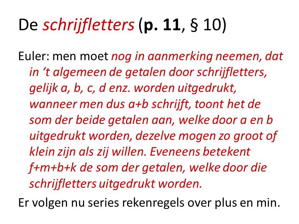 De schrijfletters (p. 11, § 10)