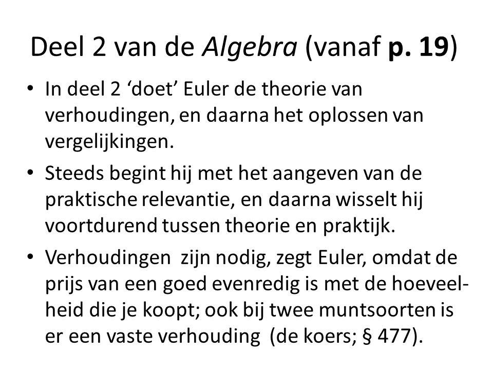 Deel 2 van de Algebra (vanaf p. 19)