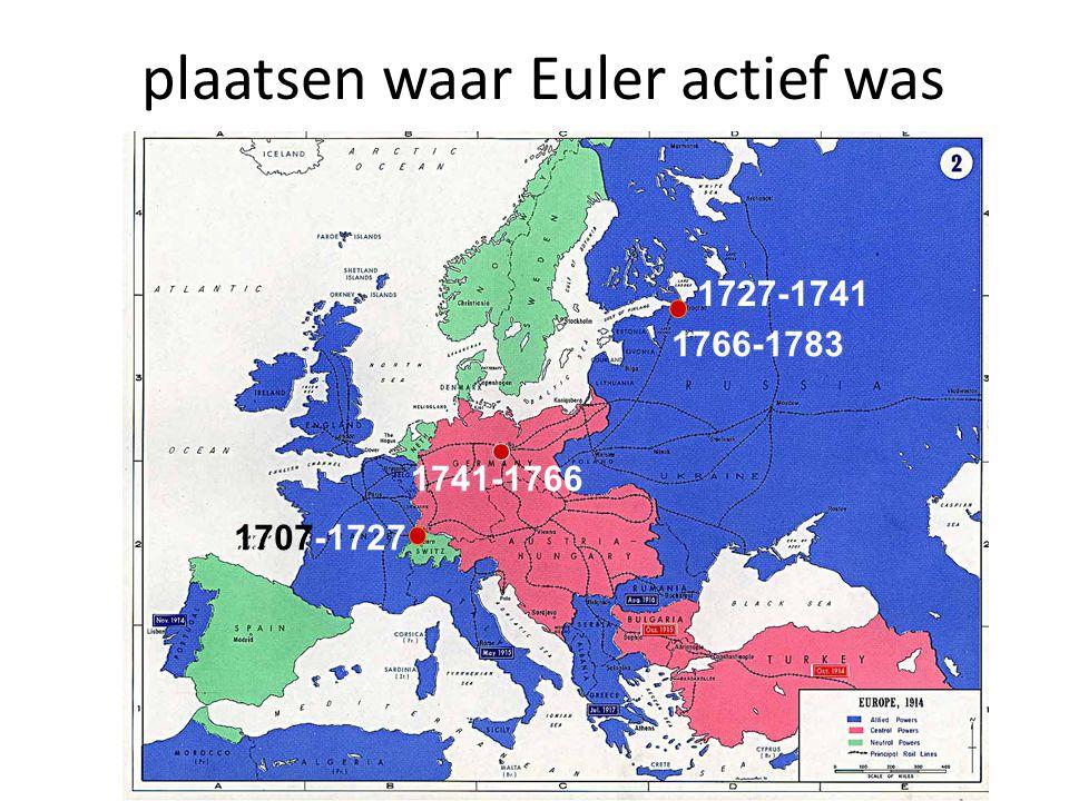 plaatsen waar Euler actief was
