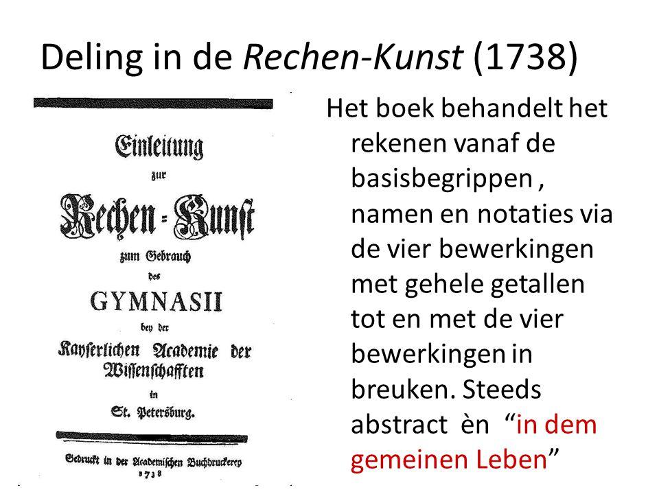 Deling in de Rechen-Kunst (1738)