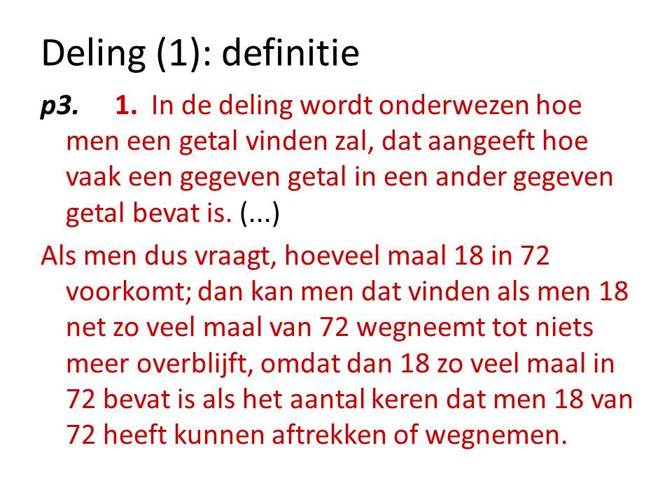 Deling (1): definitie