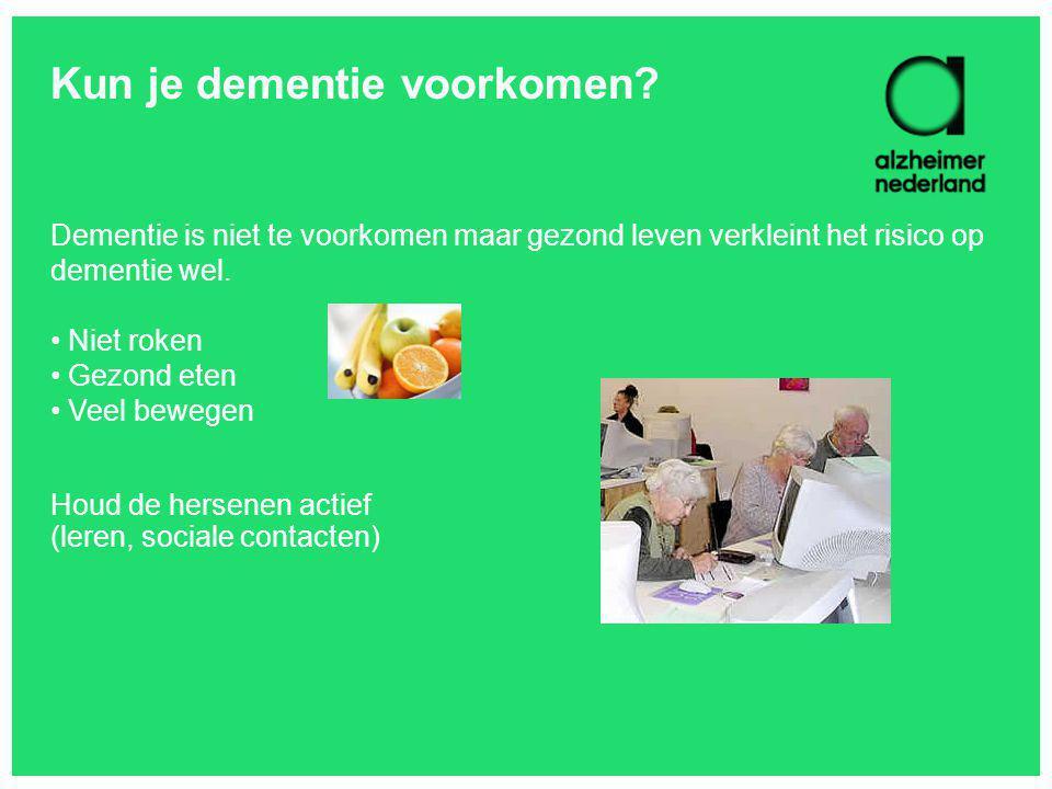 Kun je dementie voorkomen