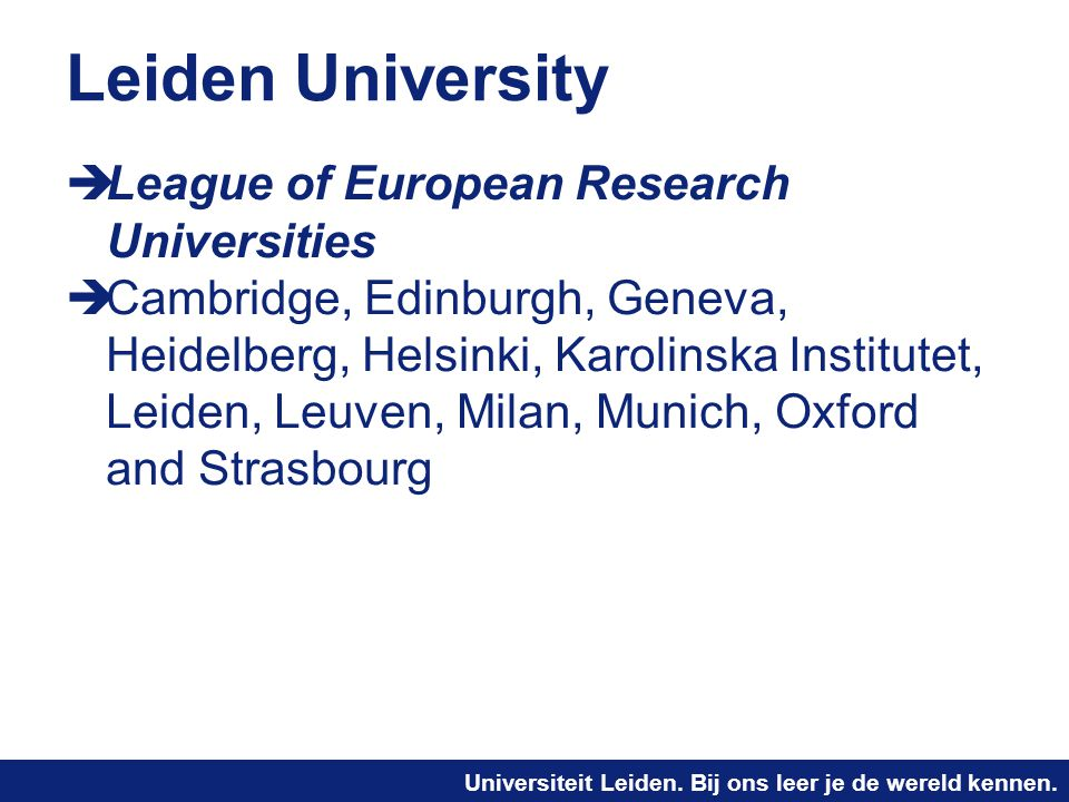 Leiden University League of European Research Universities