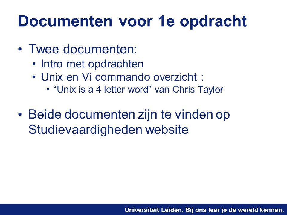 Documenten voor 1e opdracht