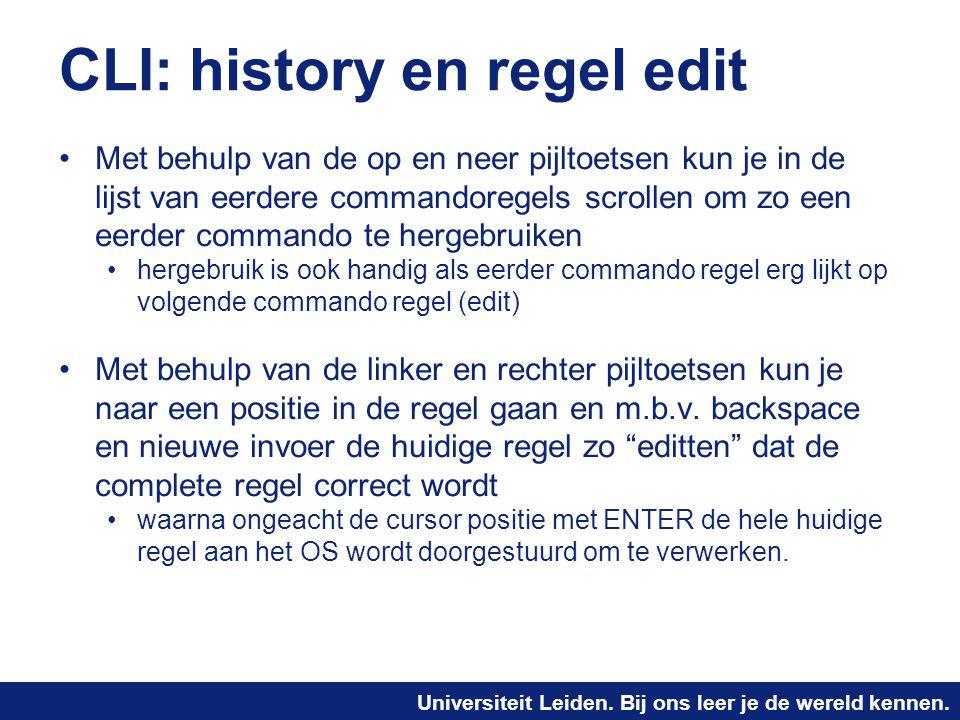 CLI: history en regel edit