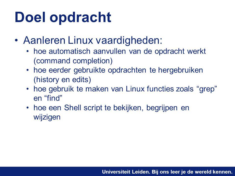 Doel opdracht Aanleren Linux vaardigheden: