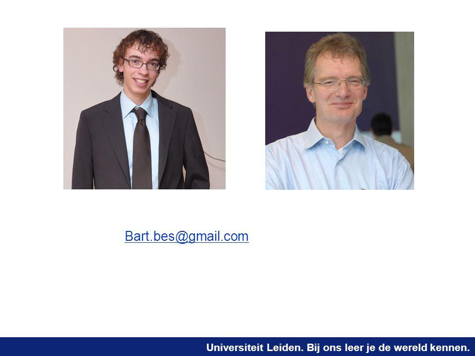 Bart.bes@gmail.com joost@liacs.nl