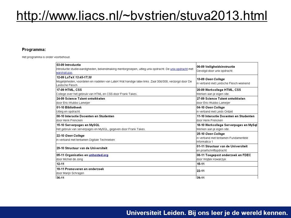 http://www.liacs.nl/~bvstrien/stuva2013.html