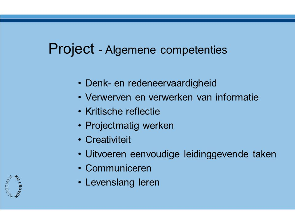 Project - Algemene competenties