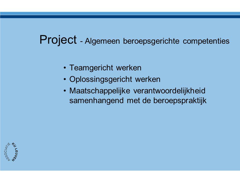 Project - Algemeen beroepsgerichte competenties