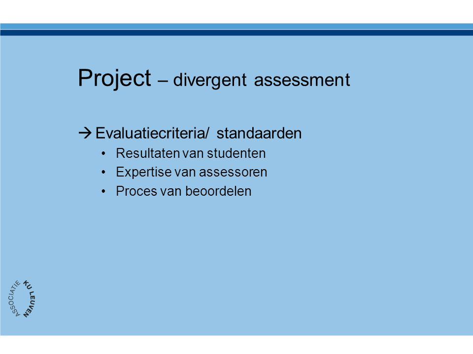 Project – divergent assessment