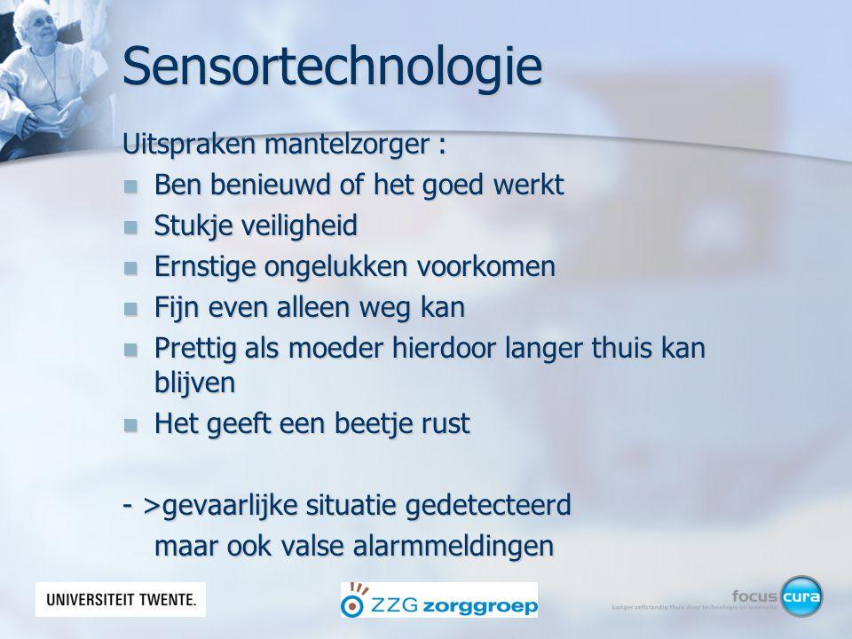 Sensortechnologie Uitspraken mantelzorger :