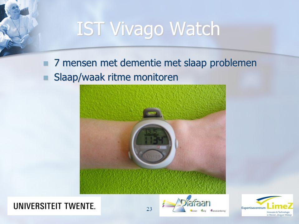 IST Vivago Watch 7 mensen met dementie met slaap problemen