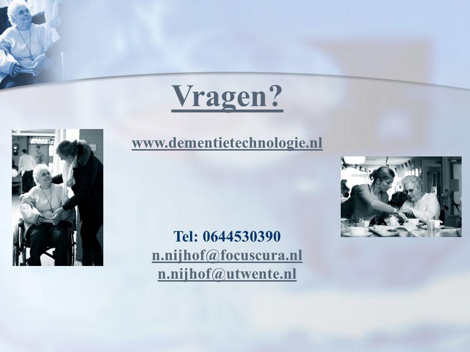 Vragen www.dementietechnologie.nl Tel: 0644530390