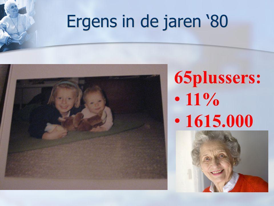Ergens in de jaren '80 65plussers: 11% 1615.000