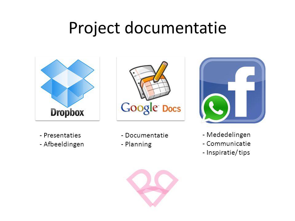 Project documentatie - Presentaties - Afbeeldingen - Documentatie