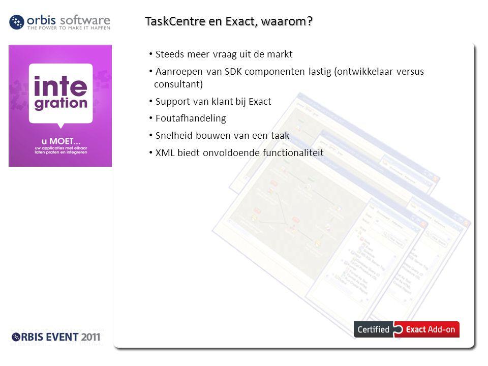 TaskCentre en Exact, waarom