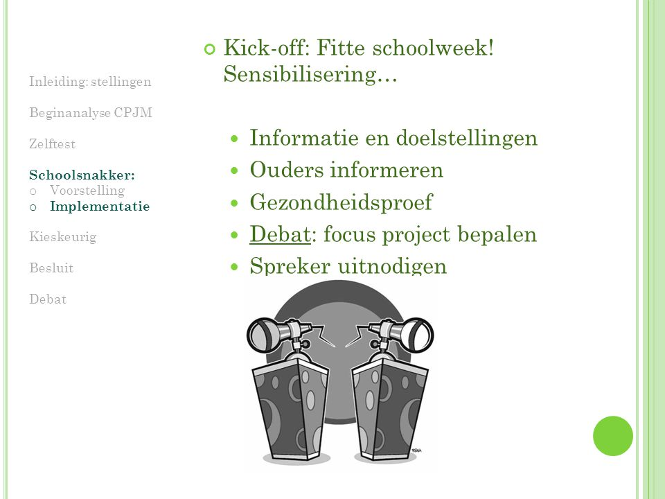 Kick-off: Fitte schoolweek! Sensibilisering…