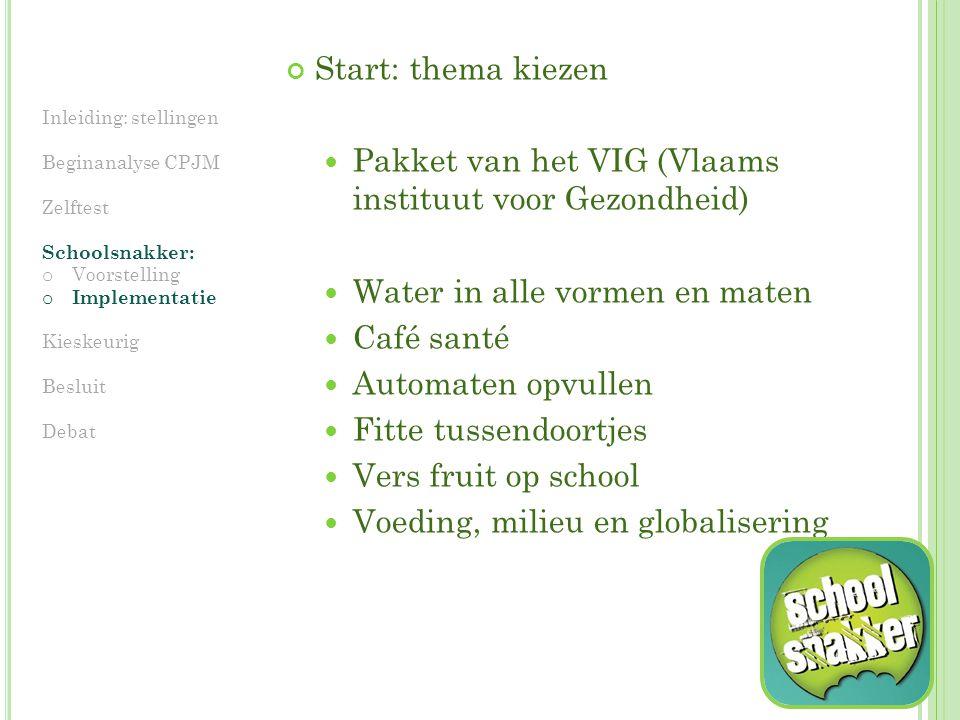 Pakket van het VIG (Vlaams instituut voor Gezondheid)