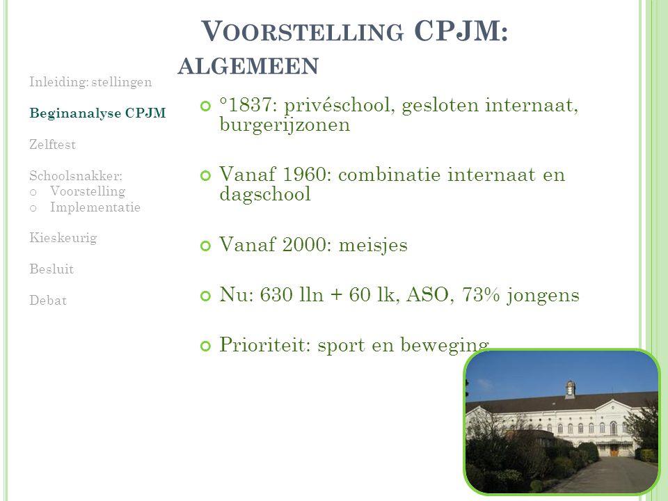 Voorstelling CPJM: algemeen