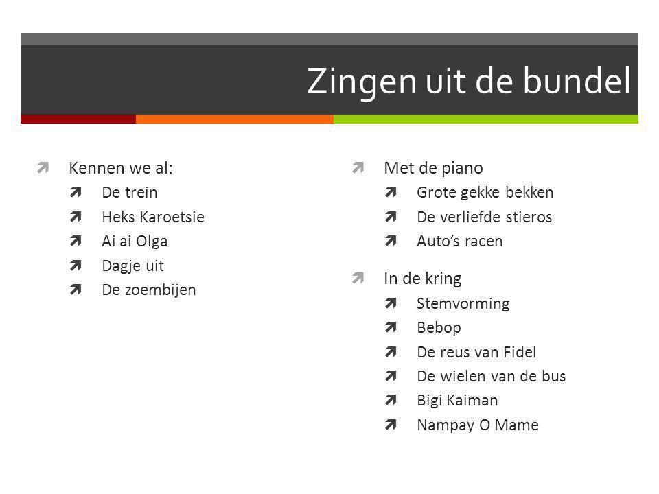 Zingen uit de bundel Kennen we al: Met de piano In de kring De trein