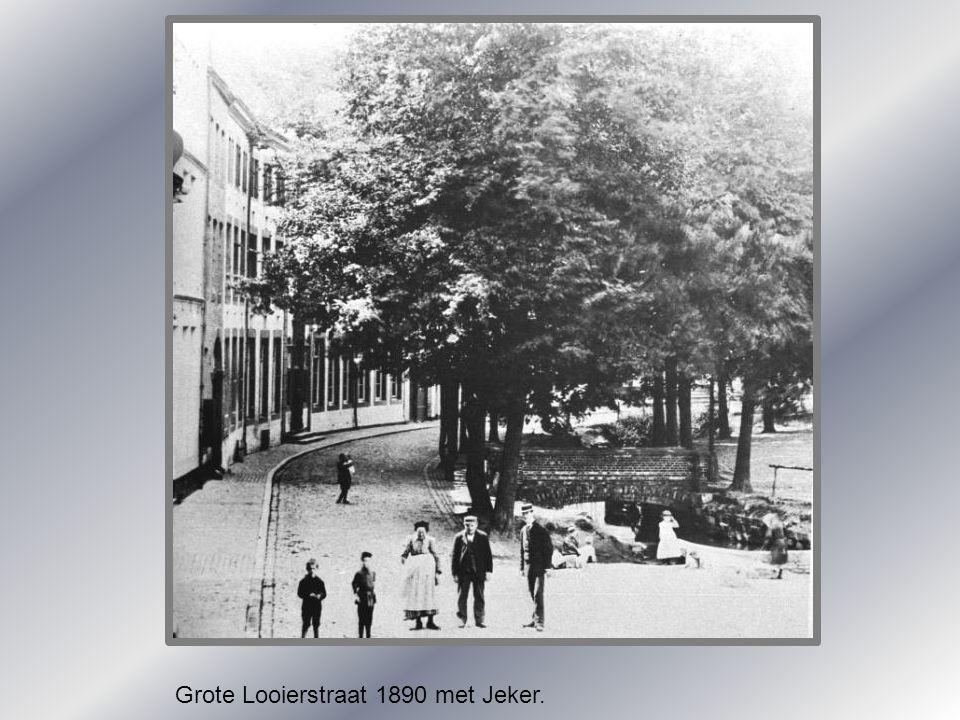 Grote Looierstraat 1890 met Jeker.