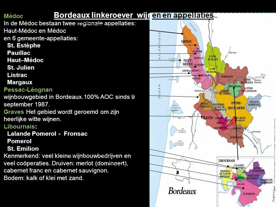 Bordeaux linkeroever wijnen en appellaties
