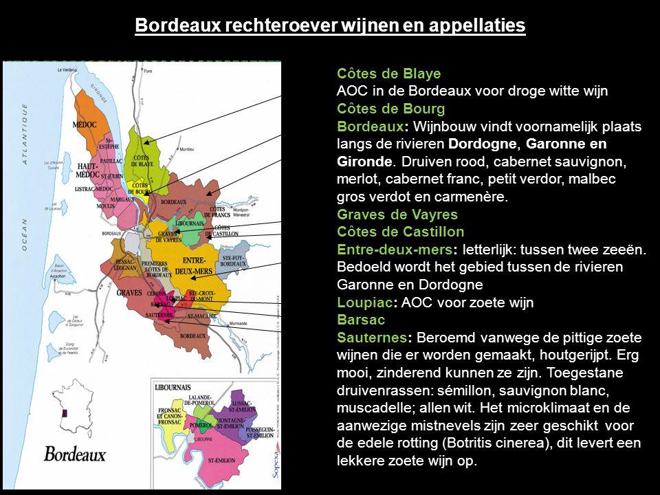 Bordeaux rechteroever wijnen en appellaties