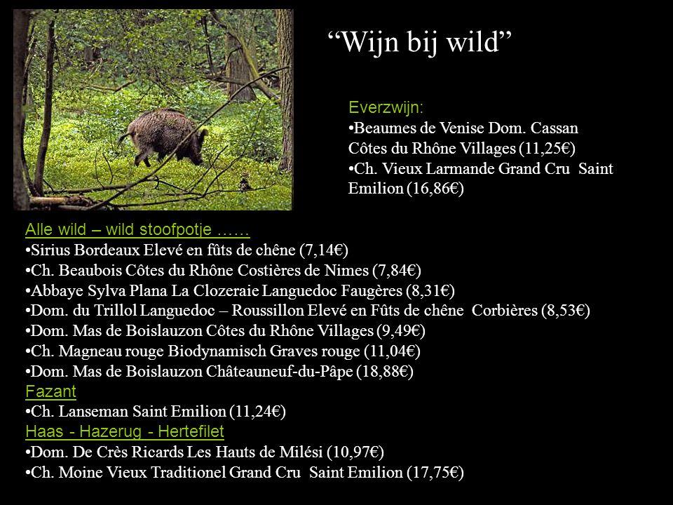 Wijn bij wild Everzwijn: Beaumes de Venise Dom. Cassan