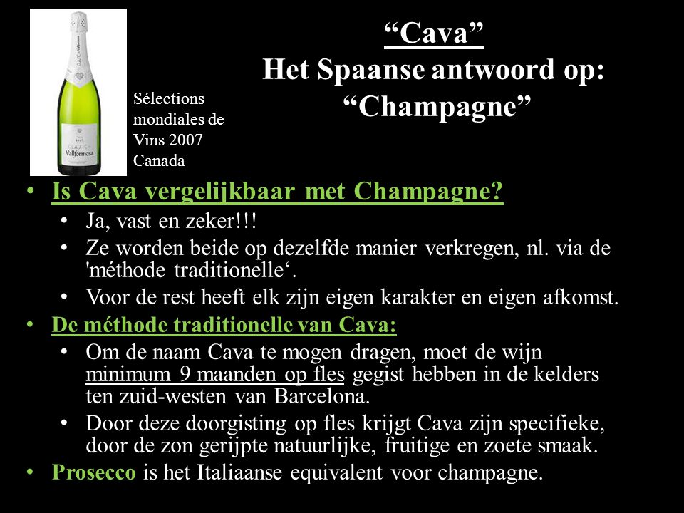 Cava Het Spaanse antwoord op: Champagne