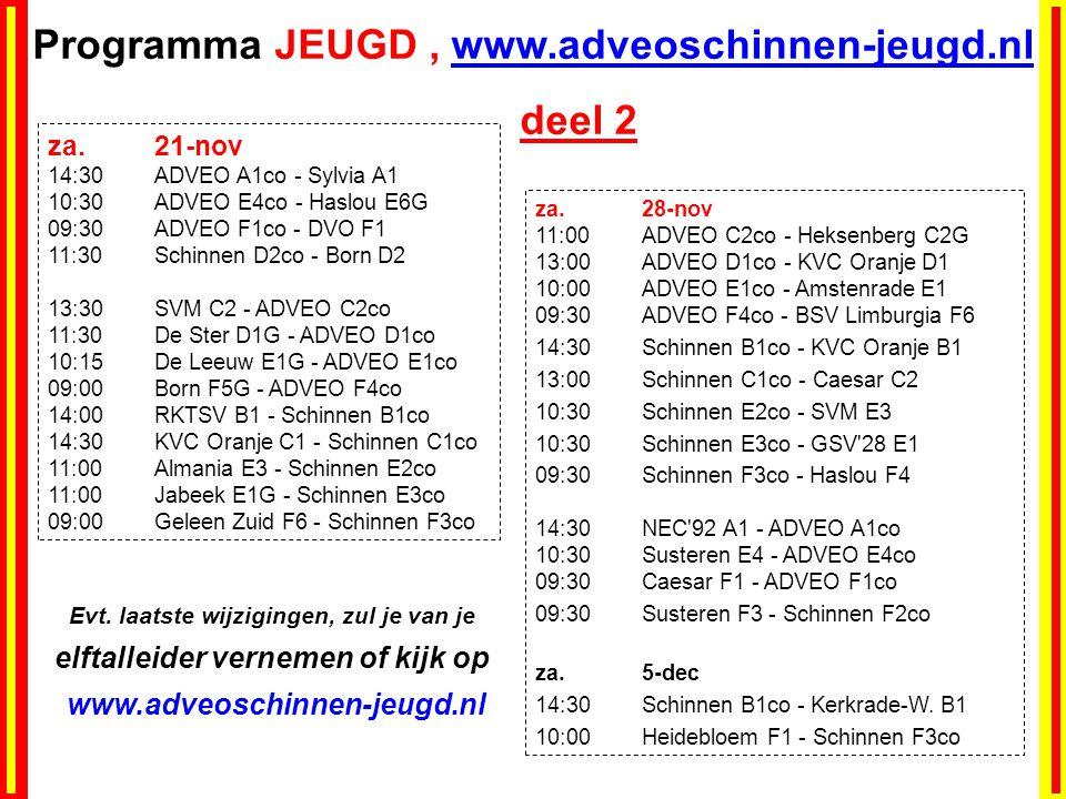 Programma JEUGD , www.adveoschinnen-jeugd.nl deel 2