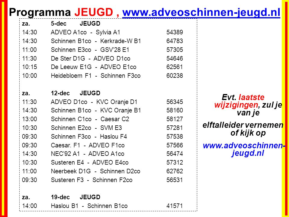 Programma JEUGD , www.adveoschinnen-jeugd.nl